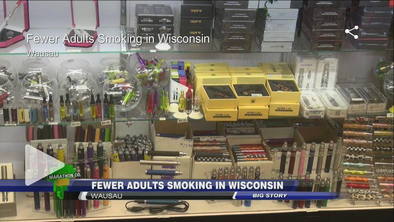 Fewer adults smoking